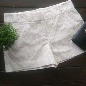 LOFT Shorts - LOFT Riviera Short Cream Ivory Beige Lace Size 6